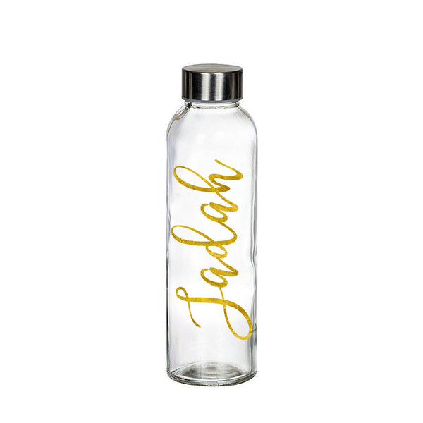 Personalized Glass Water Bottle