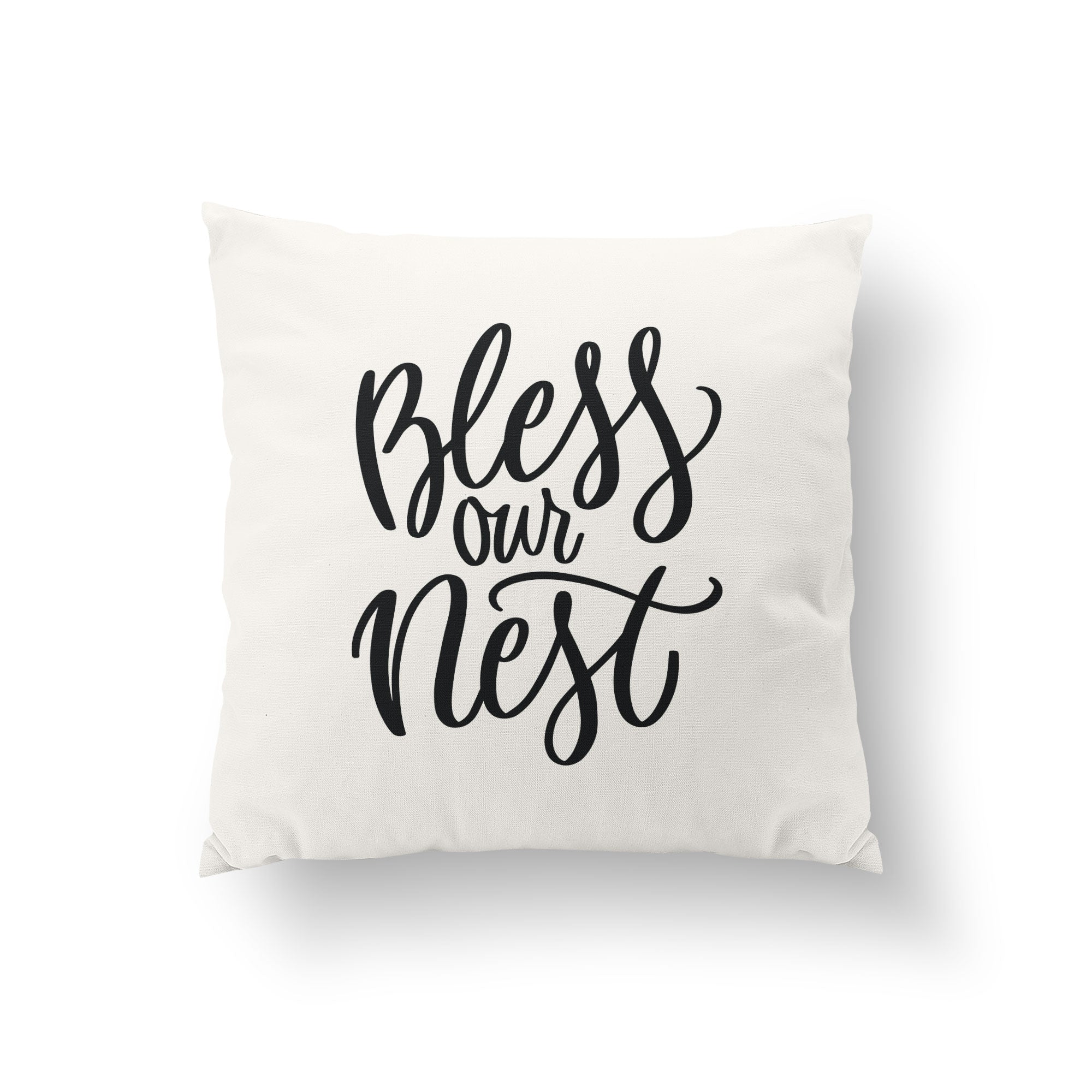 Bless Our Nest Throw Pillow