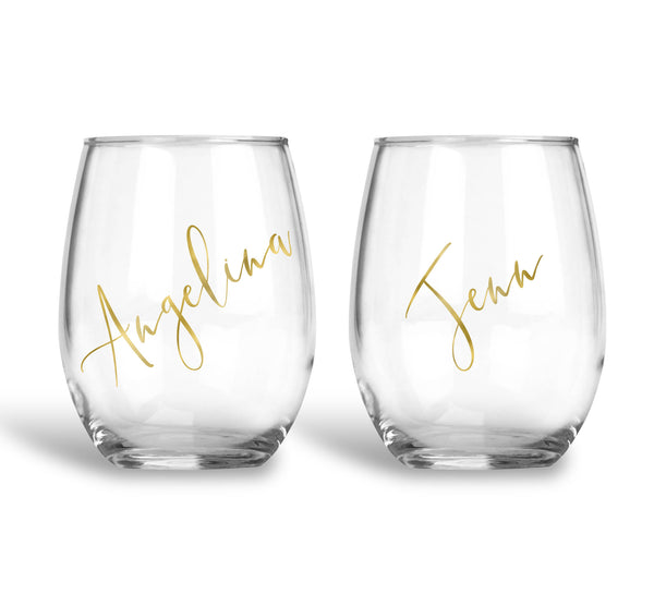Personalized Bridesmaid Wine Glass