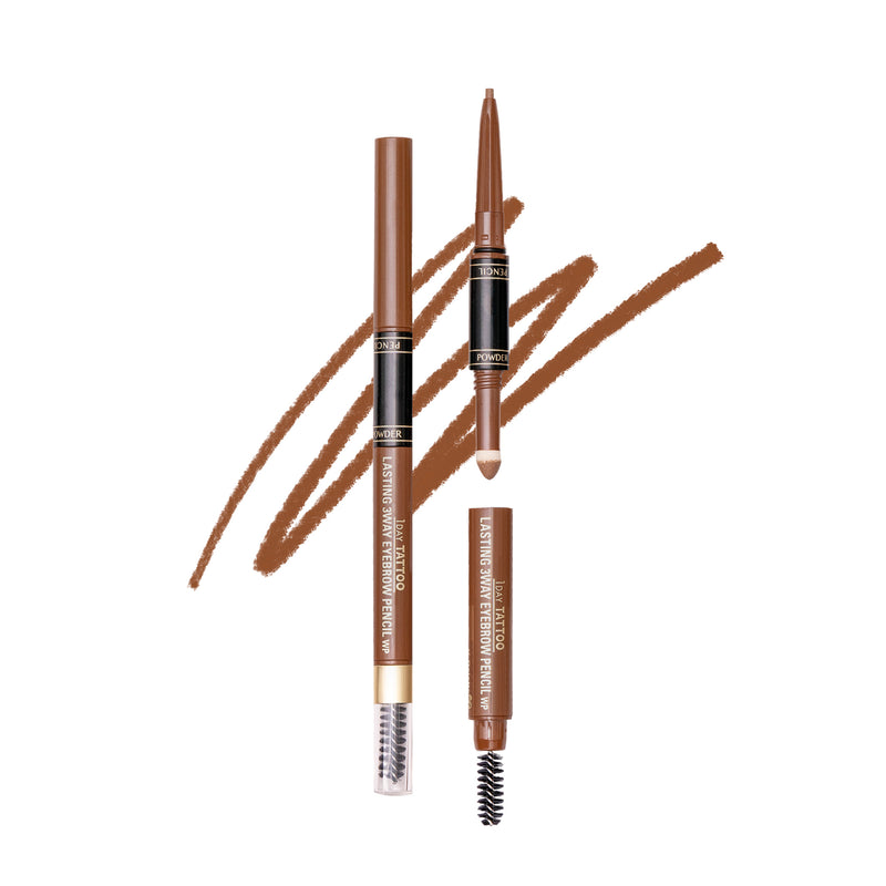K-Palette 1DAY Tattoo Lasting 3Way Eyebrow Pencil 24H