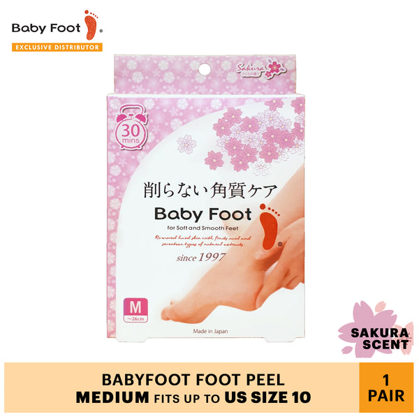Limited Edition! Baby Foot in Sakura Scent (Medium)