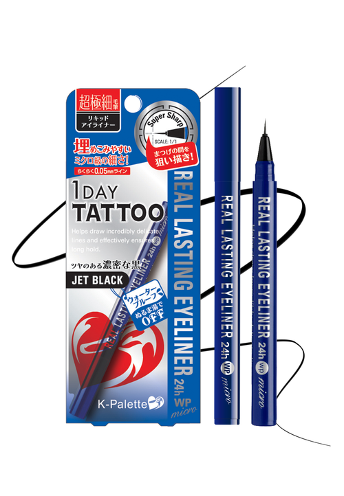 K-Palette 1DAY Tattoo Real Lasting Eyeliner Micro 24H WP