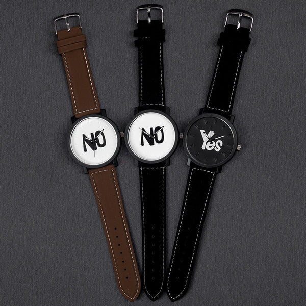 YES & No Letter Couple Watch - TIAMERO STORY