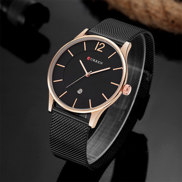 CURREN Luxury Steel Strap Wristwatch