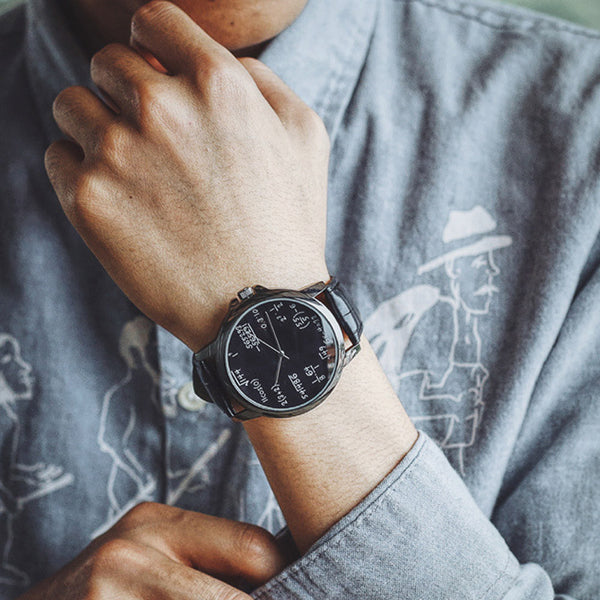 Math Formula Leather Watch