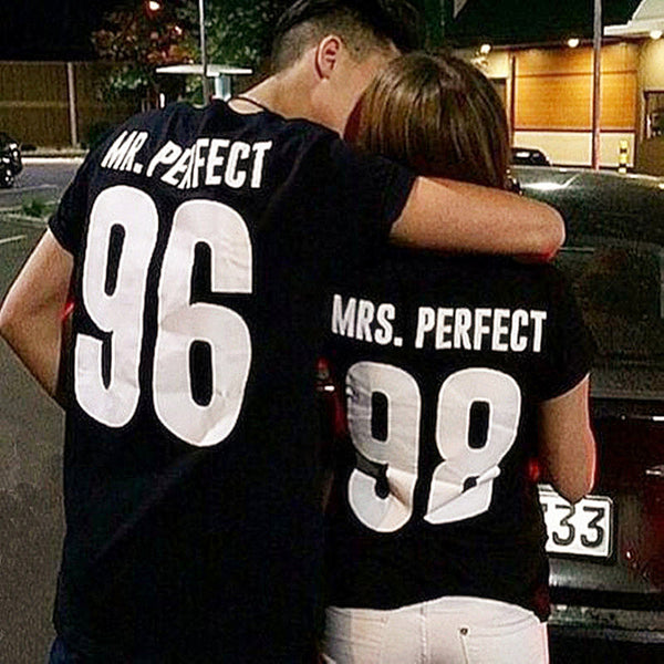 Mrs. & Mr. Perfect Letter Tees - TIAMERO STORY
