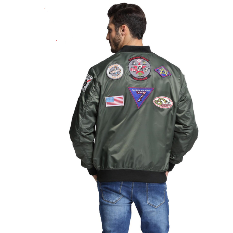 Flight Jacket with Patches