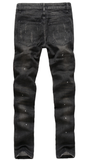 Worn Out Black Denim Slim Jeans