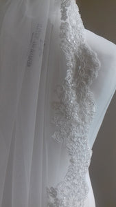 New lace-edged veils - 'Darcey' and 'Angelique'