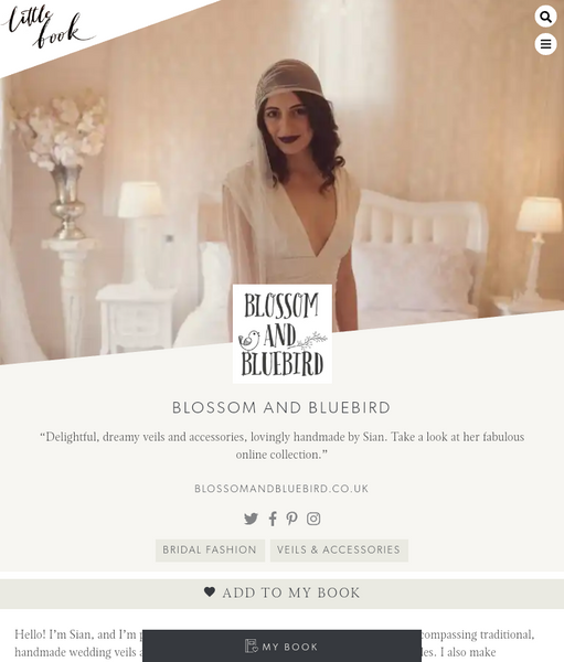 Blossom and Bluebird on Little Book wedding directory