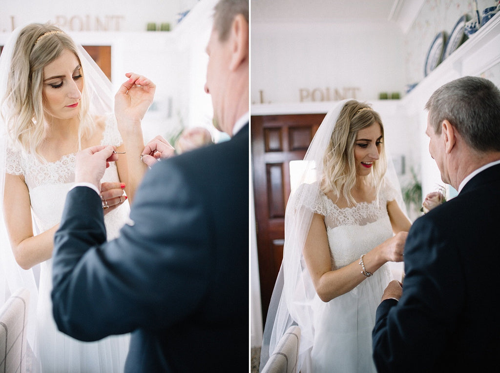 Real Bride Grace in the Beauty veil by Blossom and Bluebird