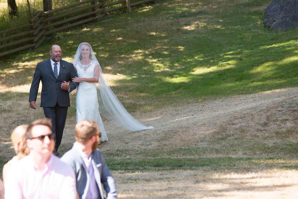Real Bride Jackie in a Soft English Tulle drop veil