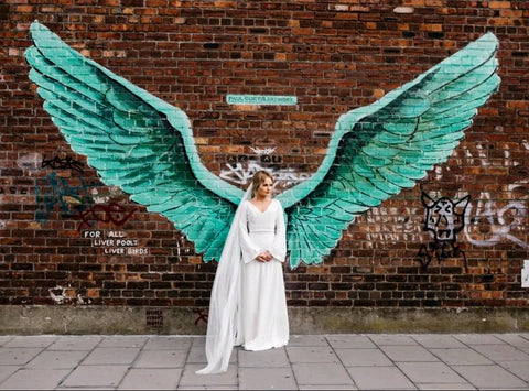 Bride in Liverpool wearing wedding veil