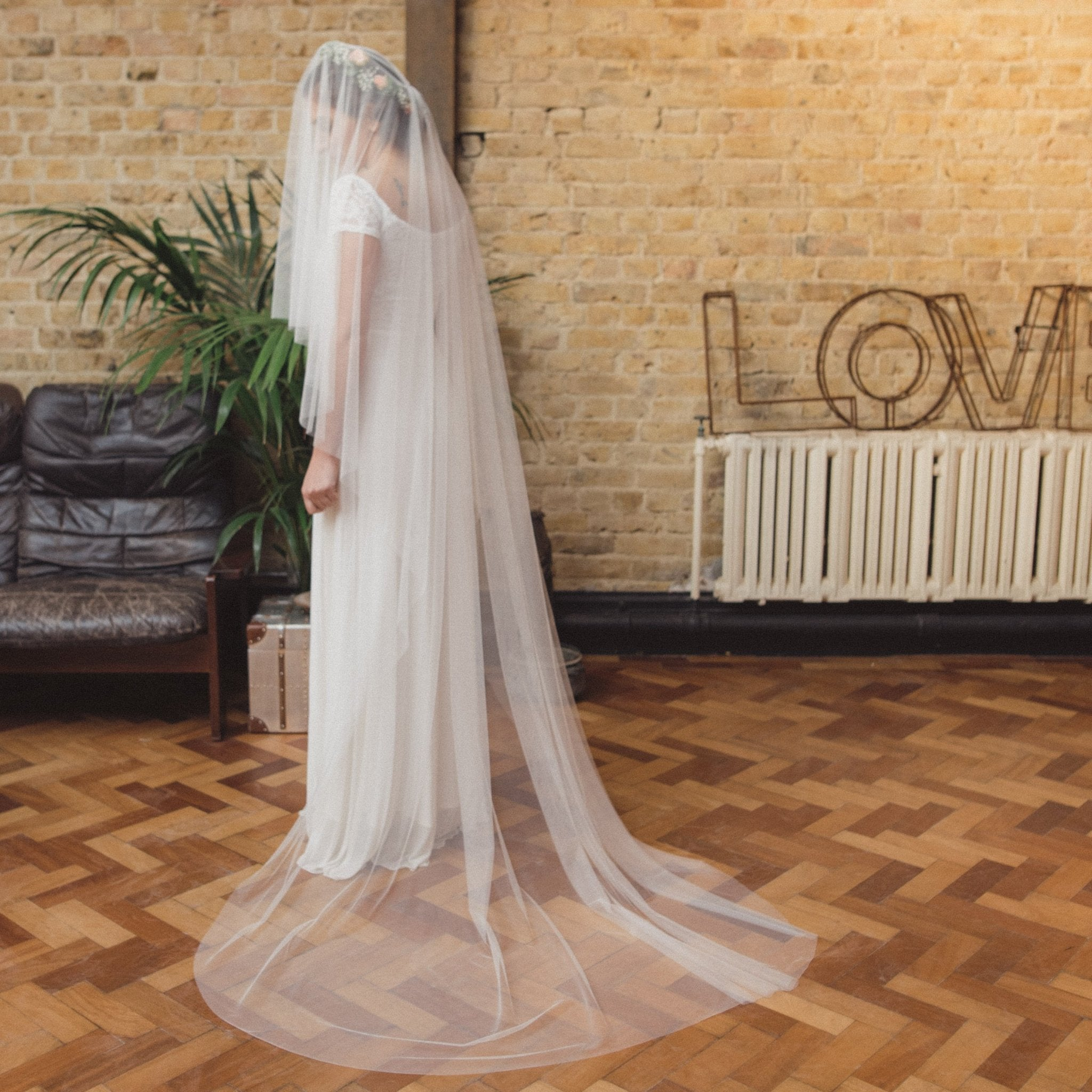 THERESE | Soft tulle drop veil