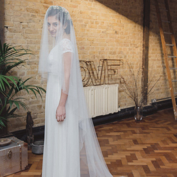 SARAH | Soft tulle two tier veil
