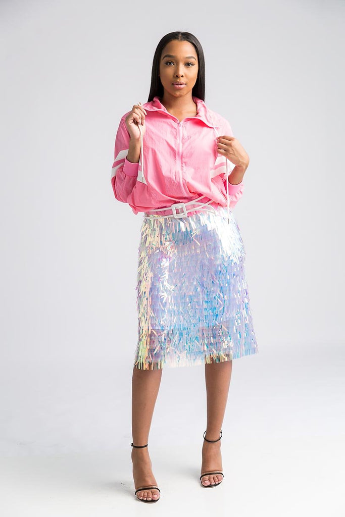 Nice For What Skirt-Iridescent