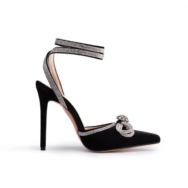 The Jessica Heel-Black Velvet