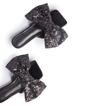 ICCONIC SLIDES -BLACK SEQUIN