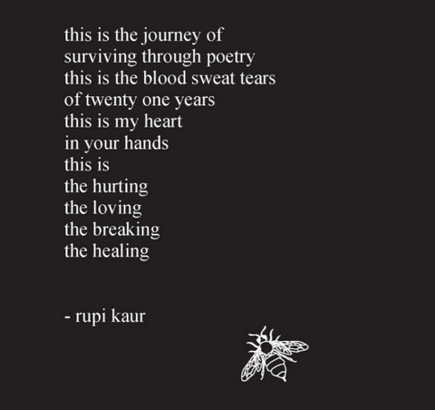 rupi kaur milk and honey back cover