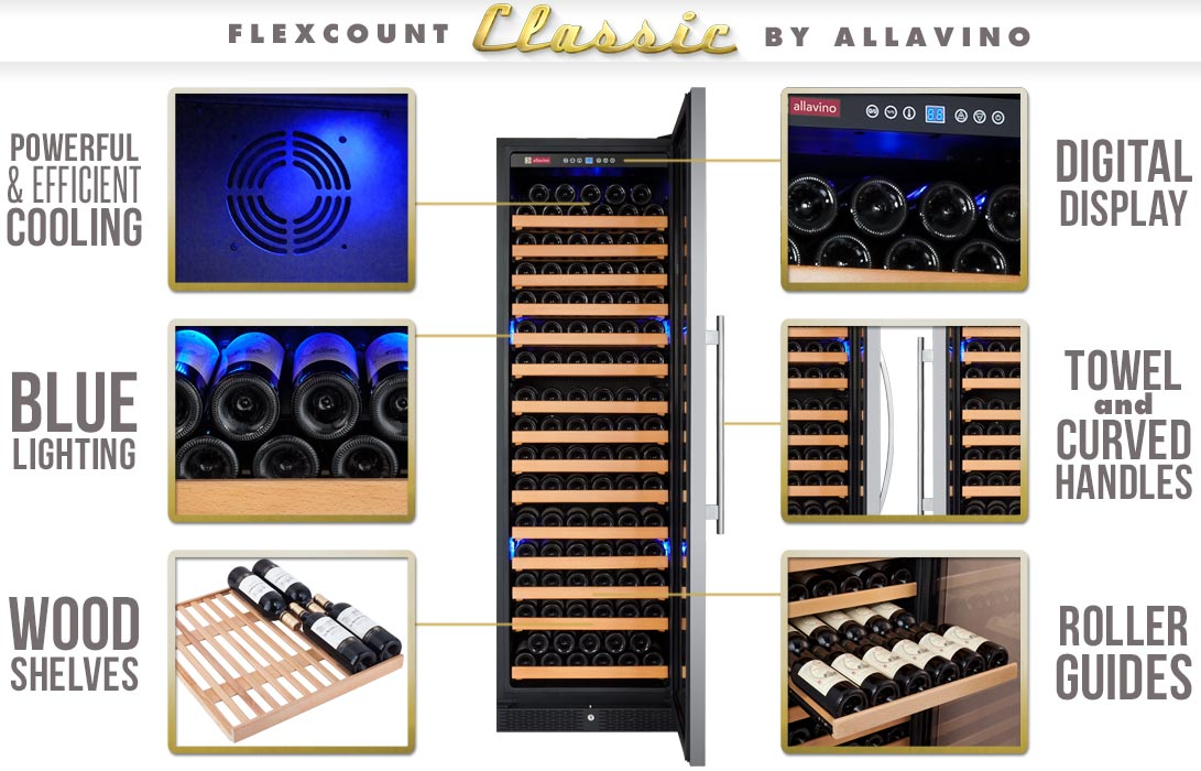 allavino flexcount wine cooler infographic