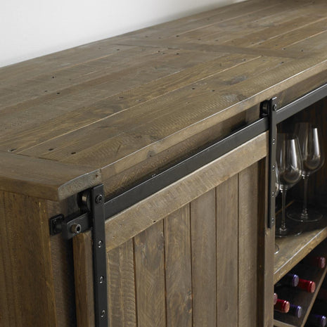 Wine Enthusiast Mesa Sliding Barn Door Credenza