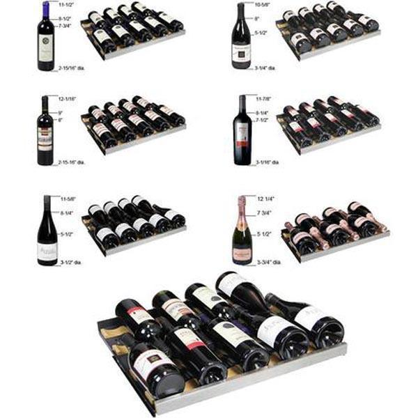 Allavino FlexCount Series 112 Bottle Three Zone Wine Refrigerator - Side by Side 3Z-VSWR5656-SST - Wine Coolers USA
