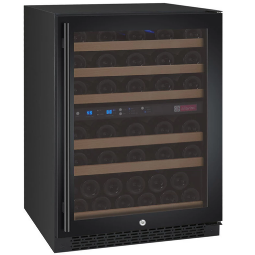 Allavino FlexCount Series 56 Bottle Dual Zone Wine Refrigerator with Black Door & Right Hinge VSWR56-2BWRN - Wine Coolers USA