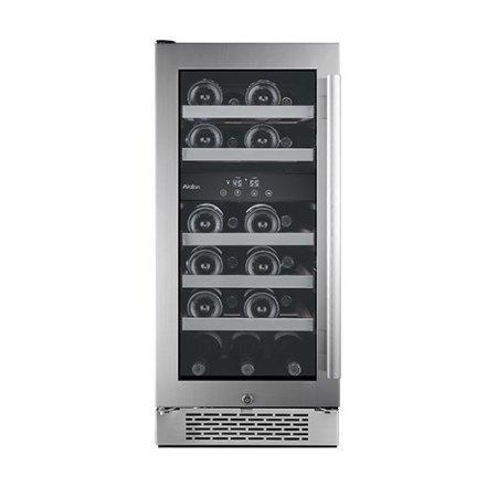 "Avallon 23 Bottle 15"" Dual Zone Built-In Wine Cooler - Left Hinge - AWC151DZLH - Wine Coolers USA"