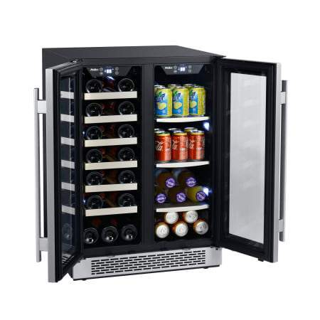 Avallon 24 Inch Wide 21 Bottle and 60 Can Capacity Built-In Wine Cooler and Beverage Center Combo - AWBC241GGFD - Wine Coolers USA
