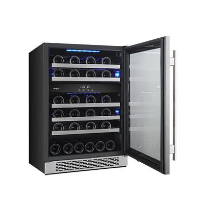 Avallon 46 Bottle Dual Zone Built-In Wine Cooler - AWC241DZRH - Wine Coolers USA