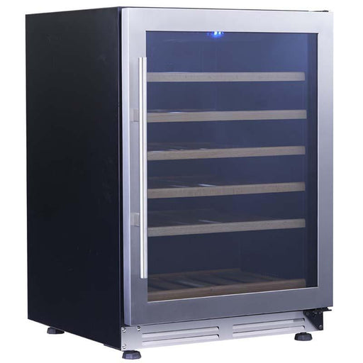 "Avanti 24"" Designer Series Wine Chiller - Black Cabinet and Stainless Steel Frame Glass Door WCF51S3SS - Wine Coolers USA"