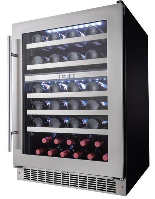 Danby Silhouette Professional 51 Bottle Dual Zone Built-In Wine Refrigerator DWC053D1BSSPR - Wine Coolers USA