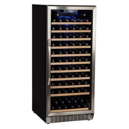 EdgeStar 121 Bottle Single Zone Built-In Wine Cooler - Stainless Steel and Black - CWR1211SZ - Wine Coolers USA