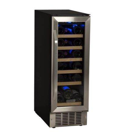 EdgeStar 18 Bottle Built-In Wine Cooler - Black/Stainless Steel - CWR181SZ - Wine Coolers USA