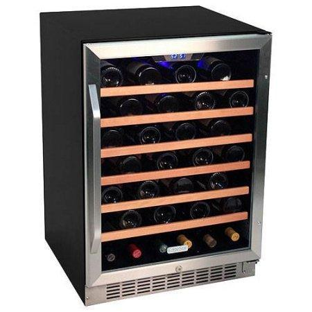 EdgeStar 53 Bottle Built-In Wine Cooler - Stainless Steel/Black - CWR531SZ - Wine Coolers USA