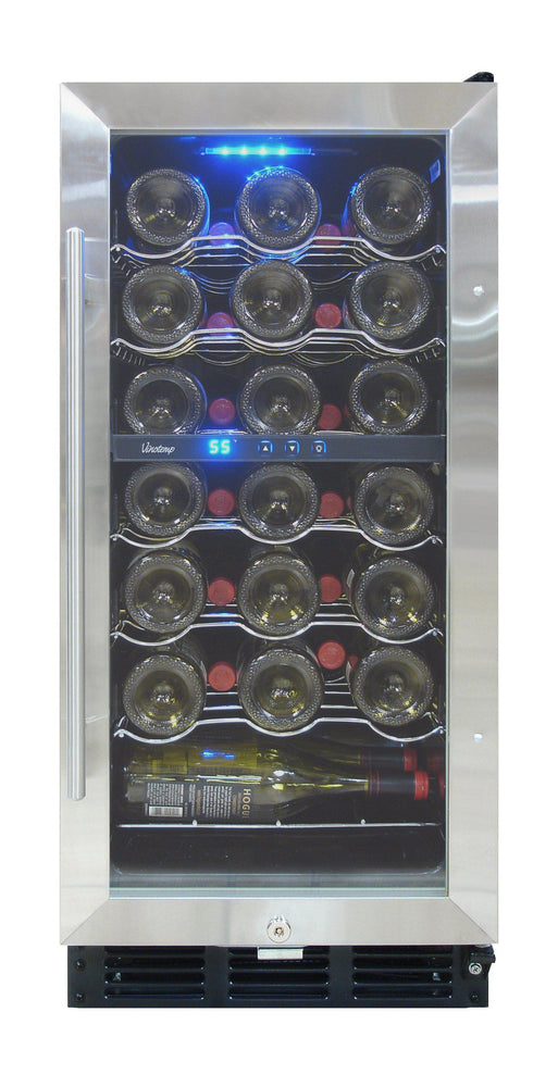Vinotemp 32-Bottle Wine Cooler with Interior Display VT-32SB-ID - Wine Coolers USA