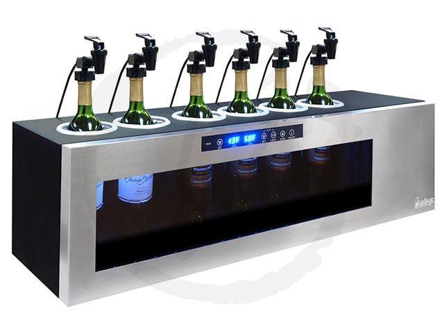 Vinotemp Il Romanzo 6-Bottle Dual-Zone Open Wine Cooler IL-OW006-2Z - Wine Coolers USA