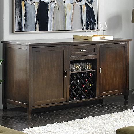 Wine Enthusiast Firenze Wine and Spirits Credenza With 28 Bottle Touchscreen Wine Refrigerator 335-98-01 - Wine Coolers USA
