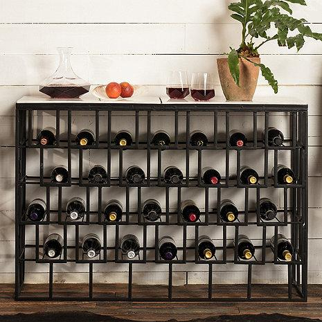 Wine Enthusiast Marble-Top Wine Storage Console Table 634-85 - Wine Coolers USA
