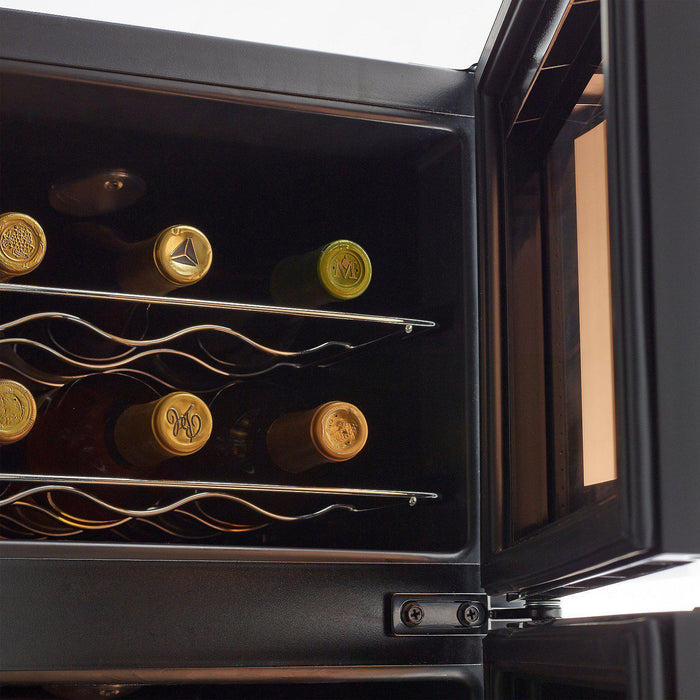 Wine Enthusiast Silent 21 Bottle Dual Zone Wine Refrigerator with Curved Doors 272-03-19-10 - Wine Coolers USA