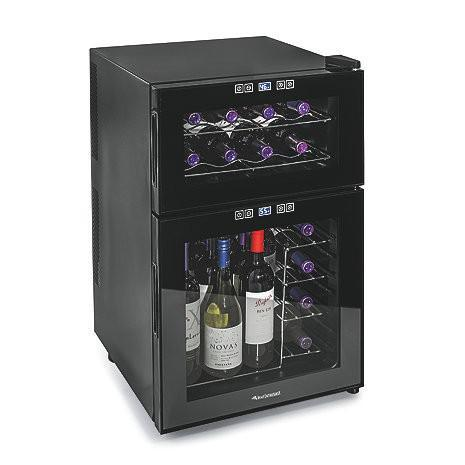 Wine Enthusiast Silent 24 Bottle Dual Zone Touchscreen Wine Refrigerator-Wine Refrigerator-Wine Coolers USA