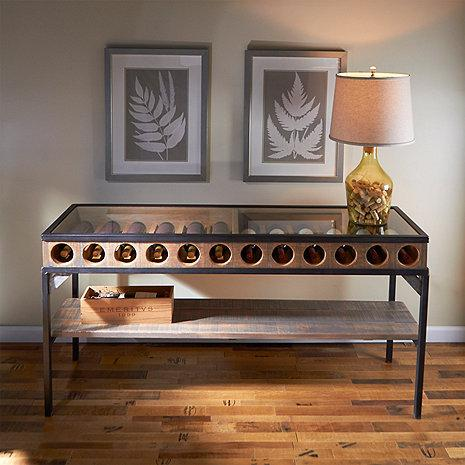 Wine Enthusiast Wine Bottle Display Console Table 324-40-01 - Wine Coolers USA