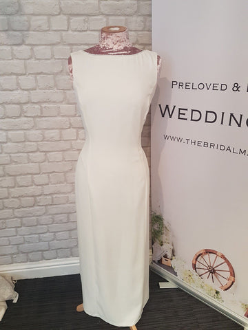 Off white column ex sample wedding/occasion dress - size 14