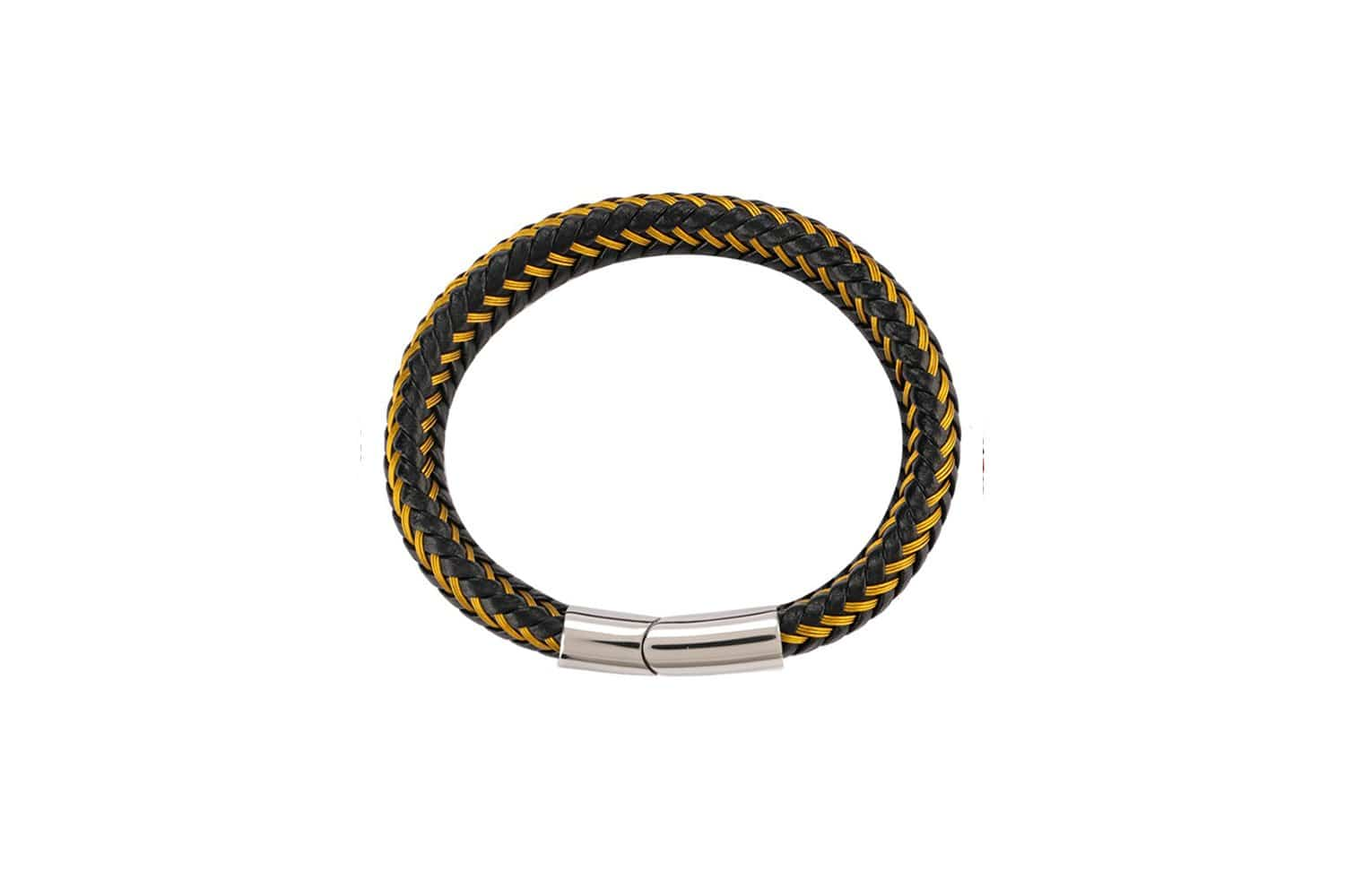 Multi-Strand Woven Leather Bracelet - Yellow Bracelets - Urban State Indonesia