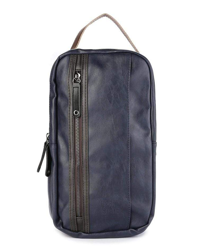 Pu Panel Small Slingbag - Navy