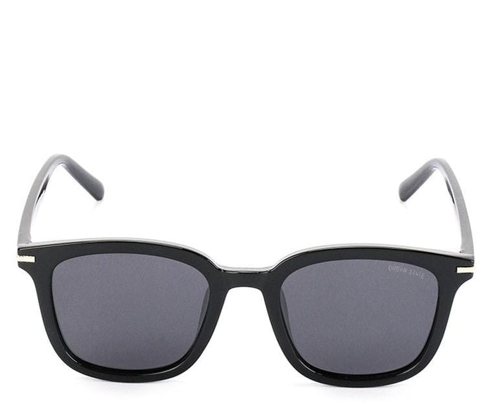 Polarized Plastic Framed Compact Sunglasses - Black Glossy