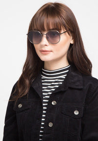 Metal Frame Retro Sunglasses - Black Black Sunglasses - Urban State Indonesia