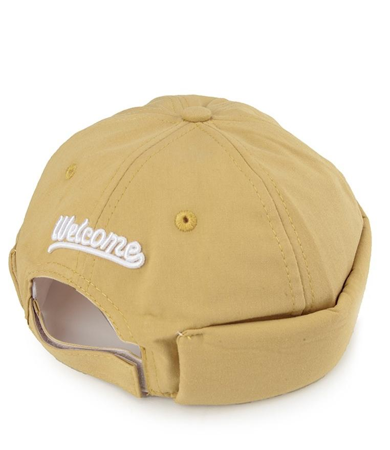 Welcome Brimless Baseball Cap - Yellow