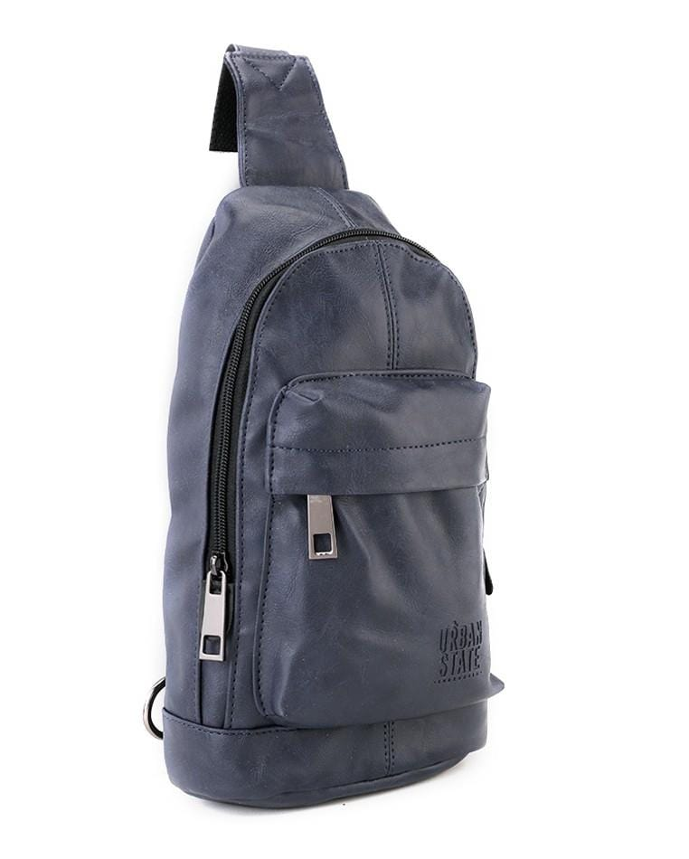 Distressed Leather Dome Slingbag - Navy Slingbags - Urban State Indonesia