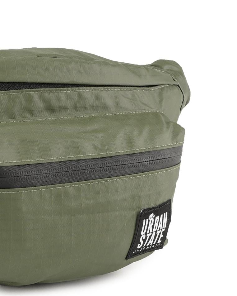 Poly Nylon Small Waist Pack - Green